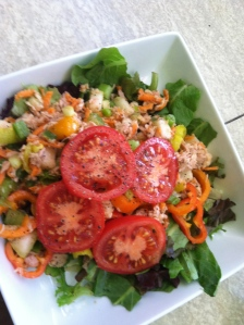 Tuna Salad without mayo or pickles. Totally nutritious and absolutely delicious!