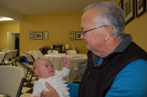 Liberty being held by her great-great Uncle JB.