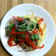 Swordfish with Pepper Salad
