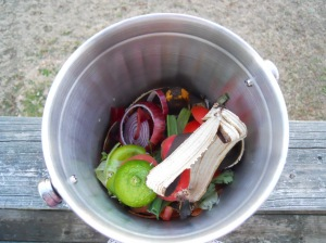 vegetables in the garbage